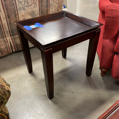 SQUARE BROWN SIDE TABLE
