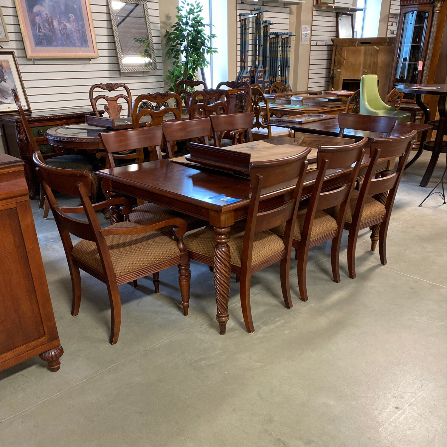 EA FORMAL DINIONG TABLE/8 CHAIRS/1LEAF