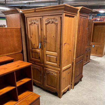 LG. ARMOIRE WITH DRESSER