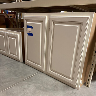 2 PIECE WHITE CABINET SET
