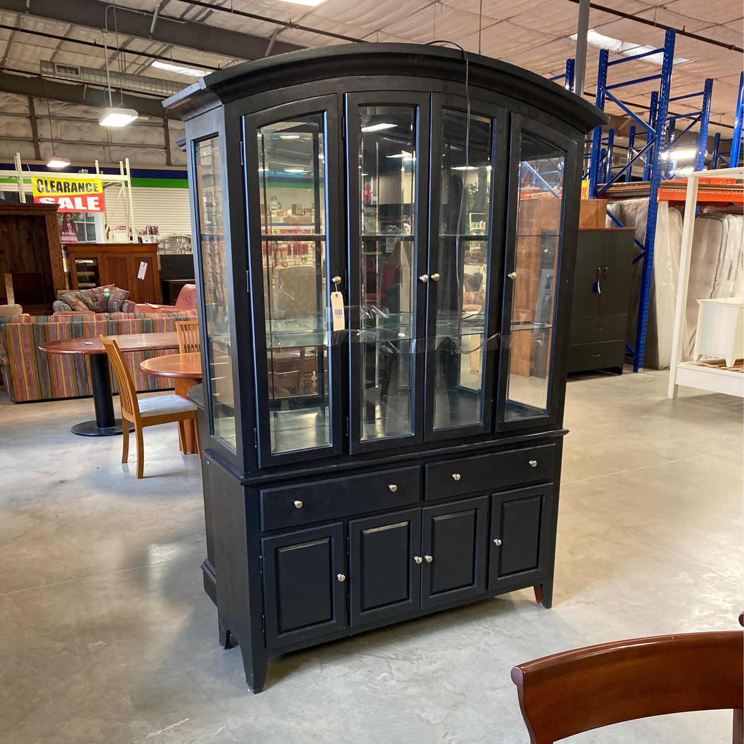 BLACK CHINA HUTCH