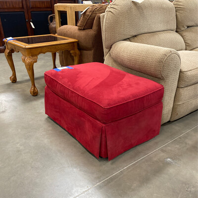CLEARANCE RED OTTOMAN RECTANGLE