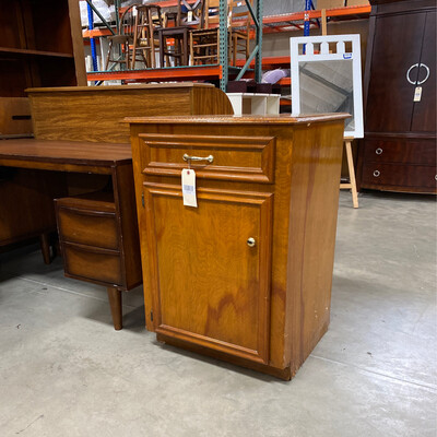 BROWN CABINET WITH DRAWER