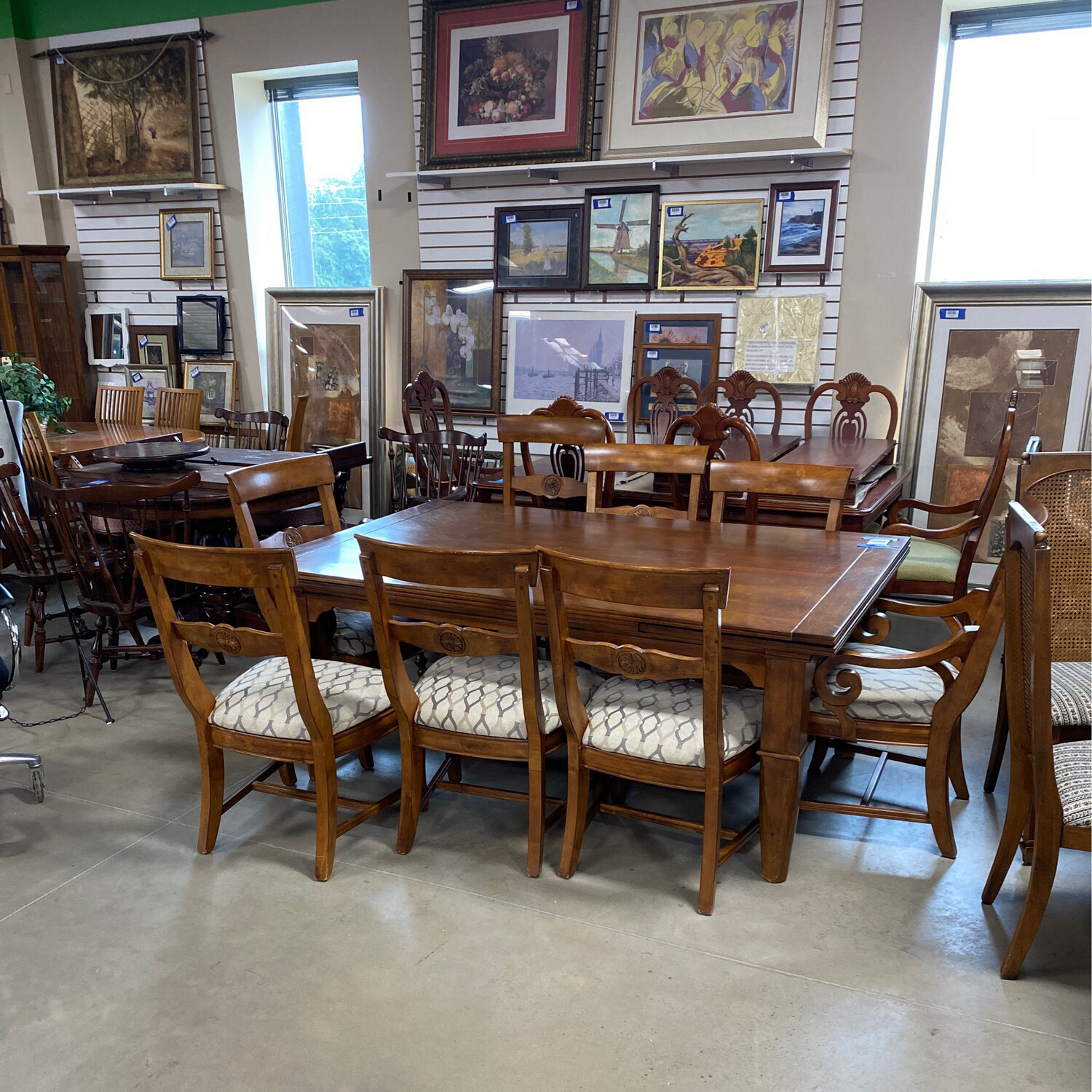TUSCANO 96 DINING TABLE 7 CHAIRS/LEAF