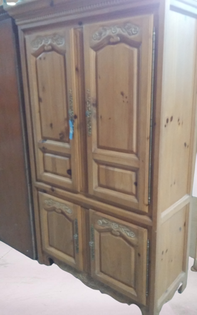 Clearance Large Armoire with Dresser