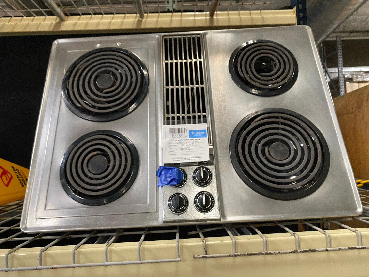 Jenn Air Electric Cooktop Stainless Steel