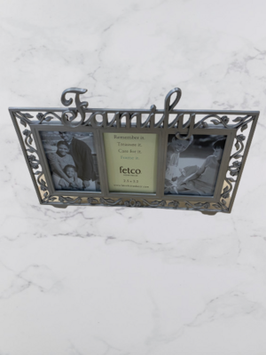 Metal Picture Frame With Family