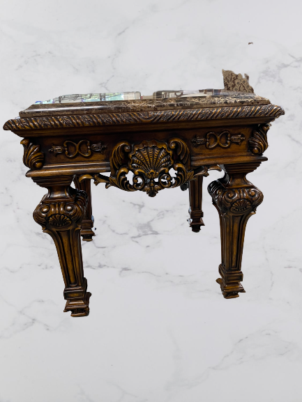 Traditional Carved Side Table
