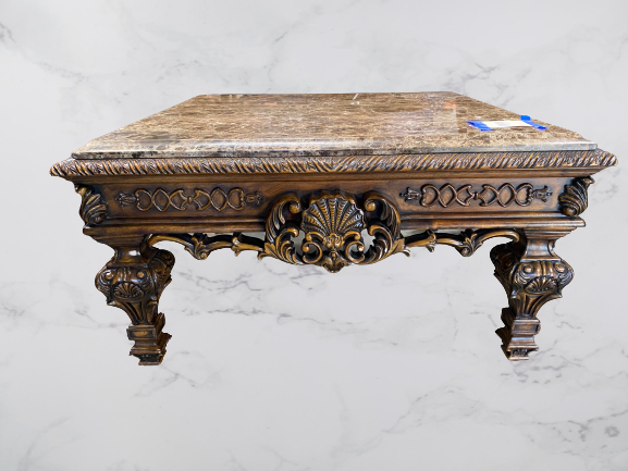 Traditional Carved Coffee Table