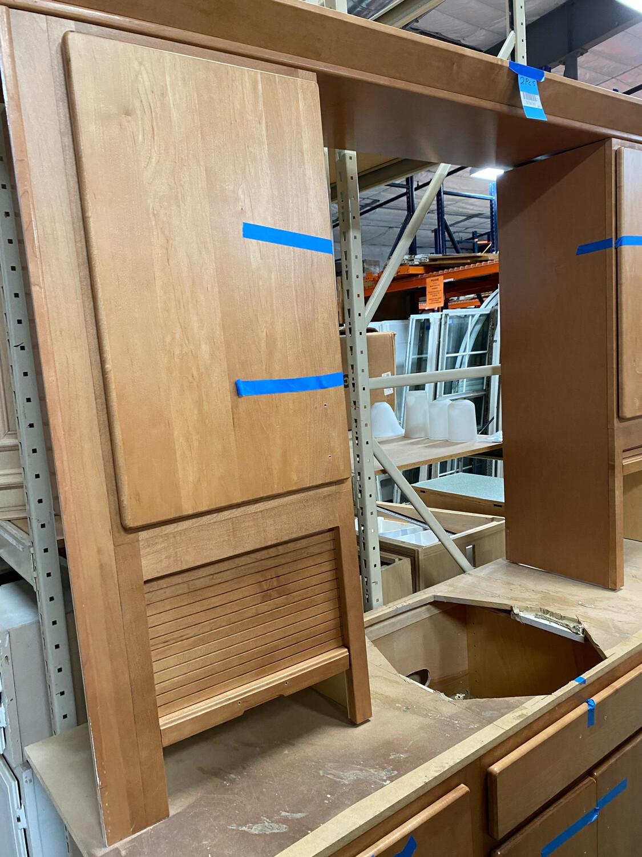 2 Pc Big Brown Cabinet Set