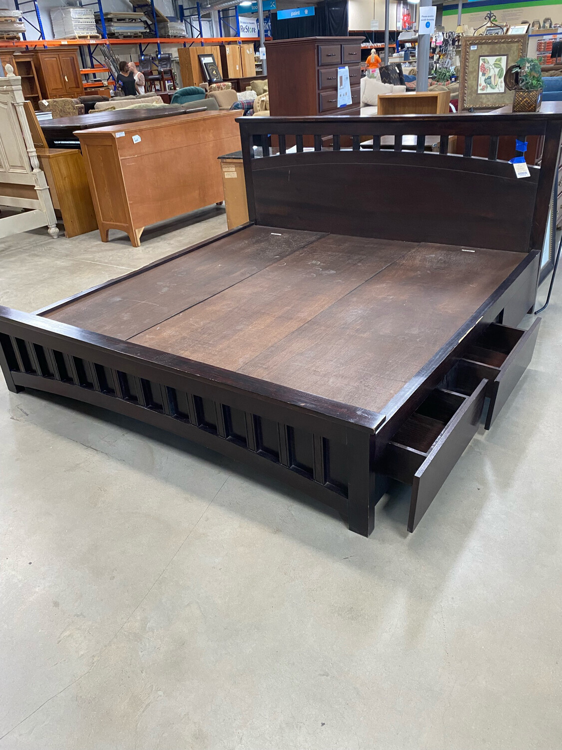 California King Platform Bed With 4 Drawers