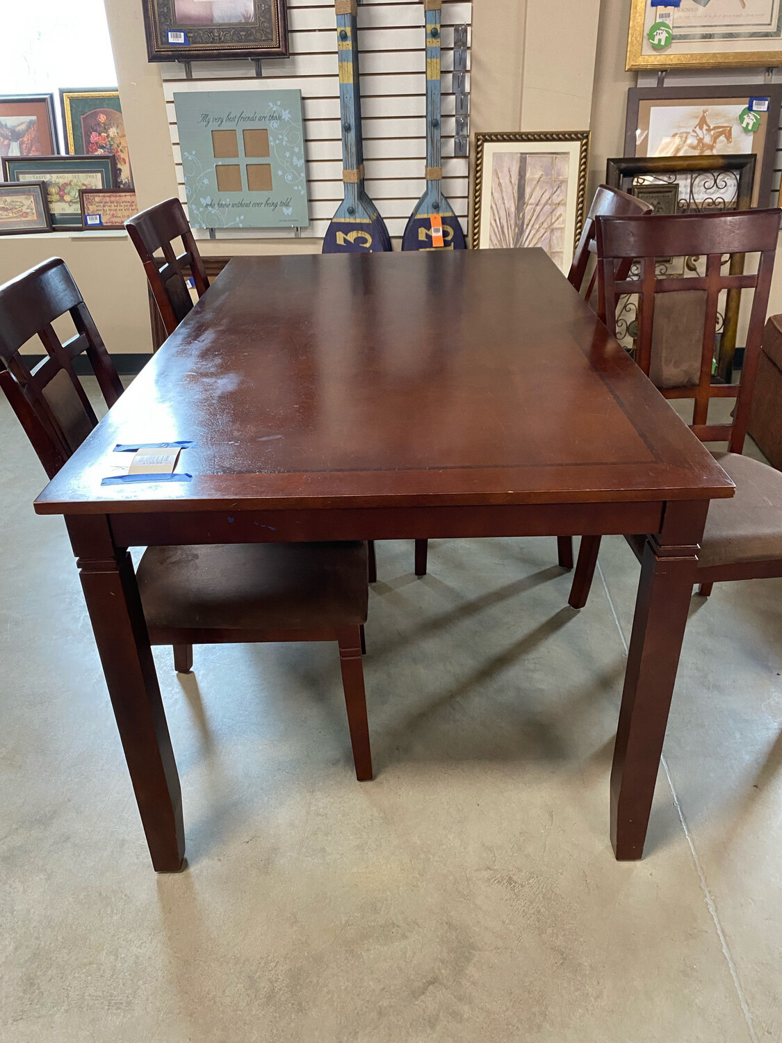 Dark. Brown Dining Table 4 Chairs