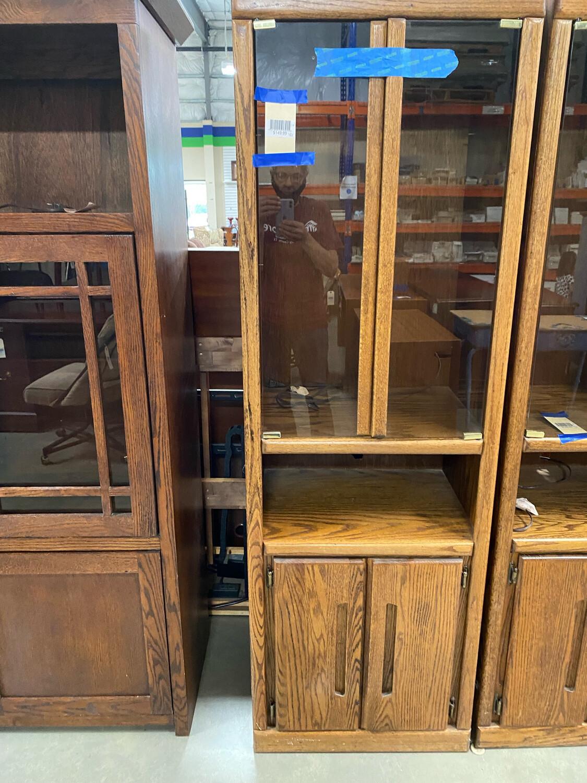 Display Cabinet Glass Doors Brown