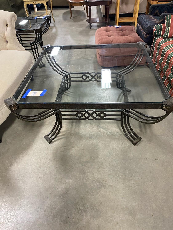 Metal/Glass Coffee Table