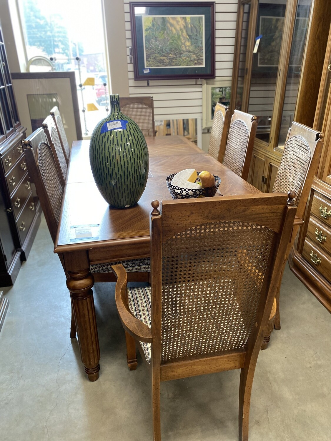 CLEARANCE DINING SET W/8 CHAIRS