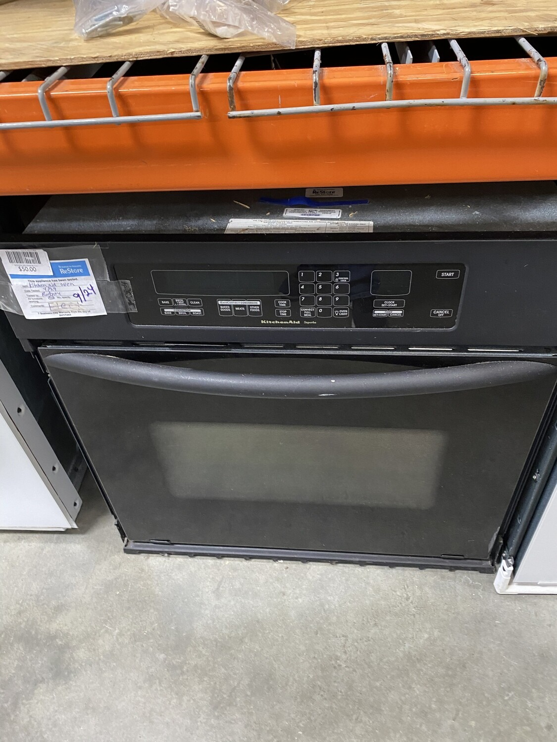 KITCHEN AID WALL OVEN BLACK