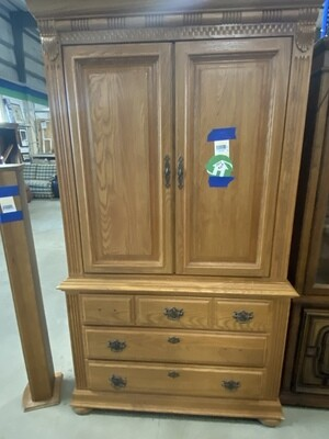 CLEARANCE LIGHT BROWN ARMOIRE