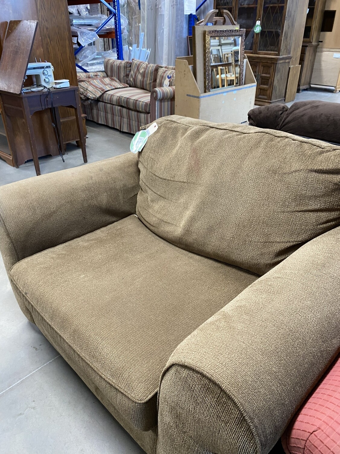 CLEARANCE LIGHTER BROWN OVERSIZED CHAIR