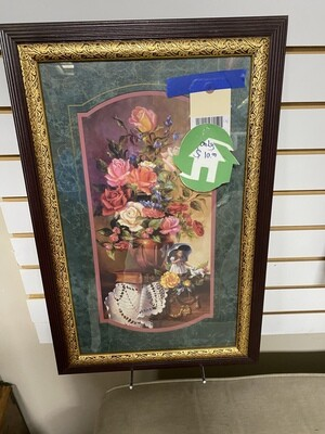 CLEARANCE FLORAL BOUQUET WITH DOLL