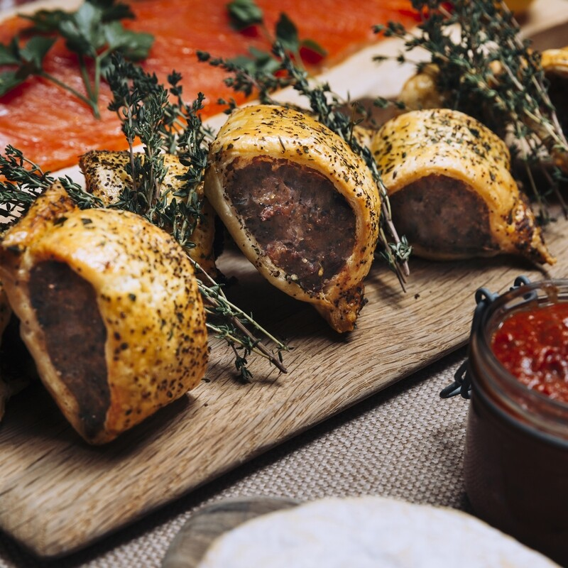 Pork and Pancetta Sausage Rolls