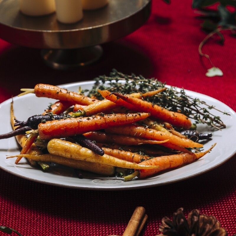 Roasted Heritage Carrots rolled in Garden Herbs