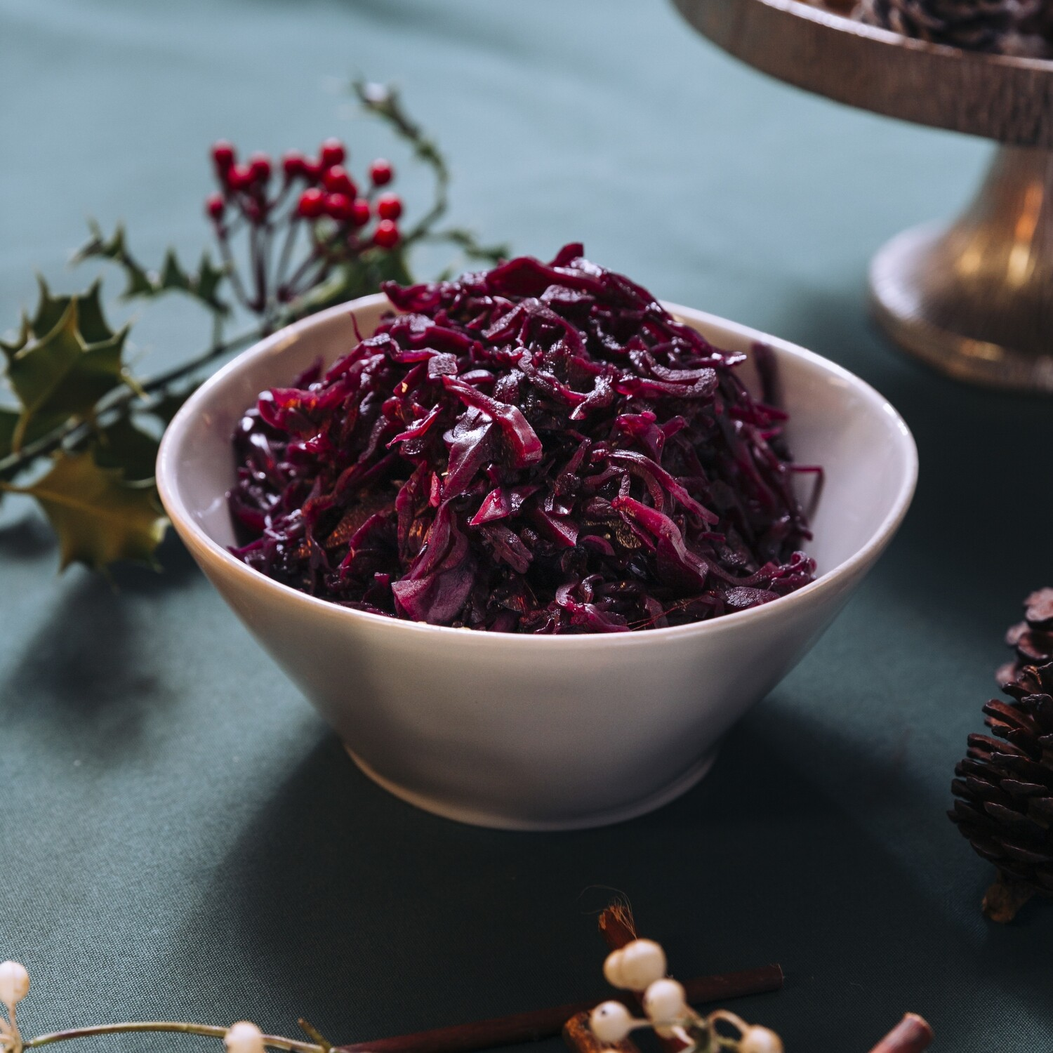 Slow Cooked Red Cabbage with Granny Smith Apples