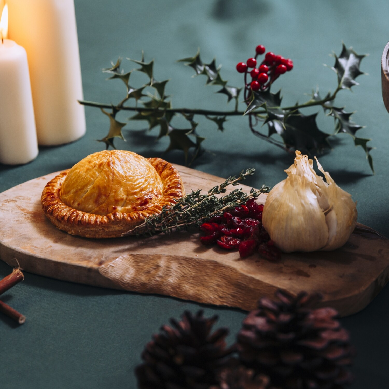Hampshire Tunworth Soft Cheese, Caramelized Shallot and Cranberry Pithivier | Main