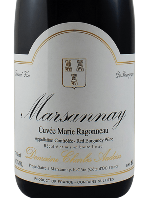 Marsannay 'Cuvee Marie Ragonneau' Charles Audoin, Burgundy France