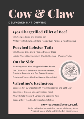 Valentine's Cow & Claw | Nationwide Delivery