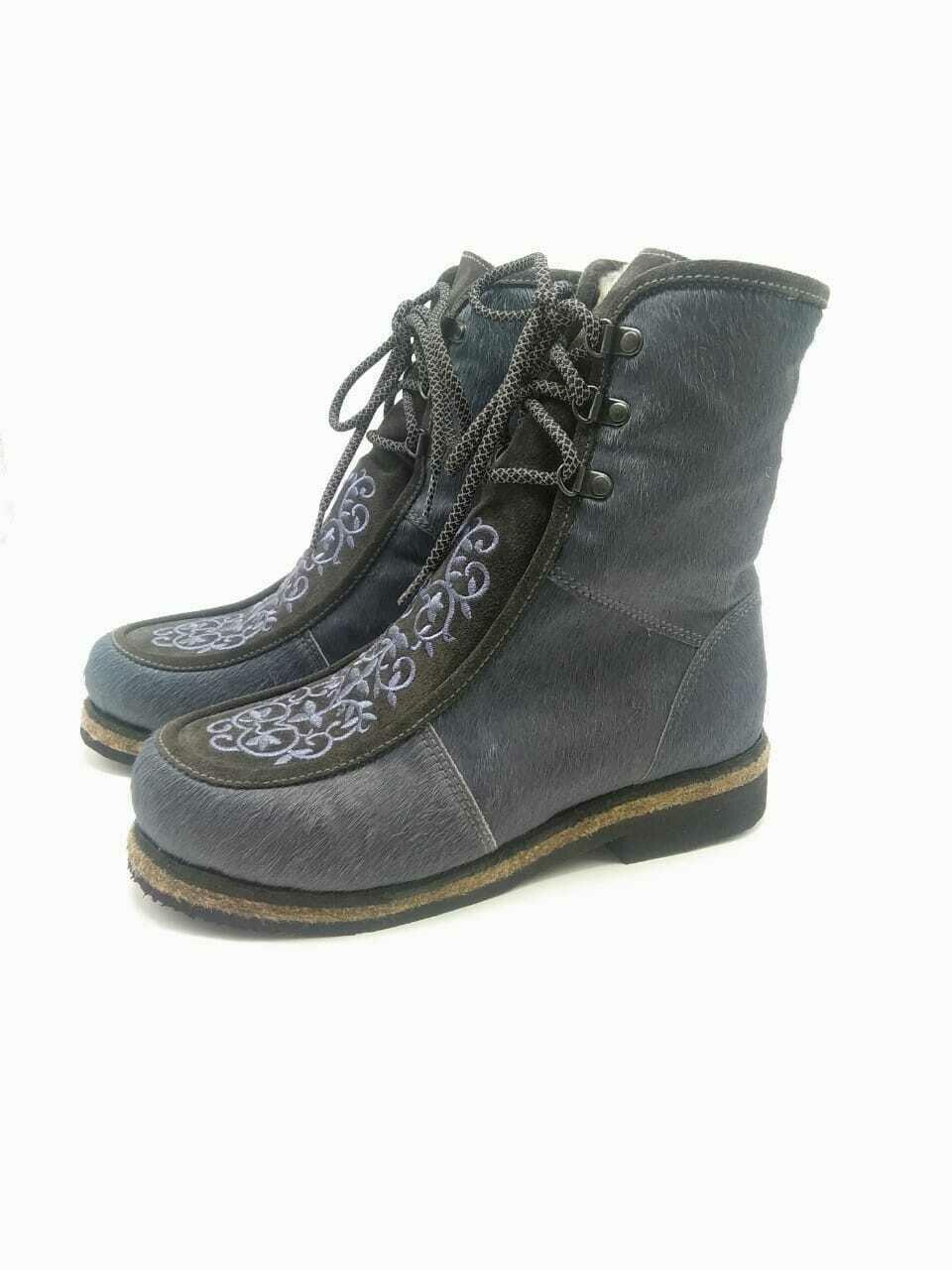 38 Унты-ботиночки женские из пони