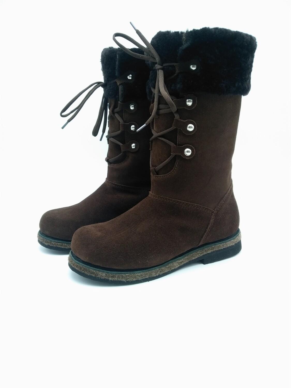 38 Унты-ботиночки женские из замши
