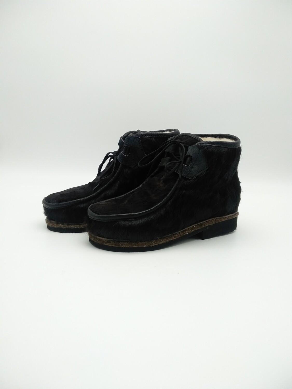 38 Унты-ботиночки женские из теленка на шнуровке