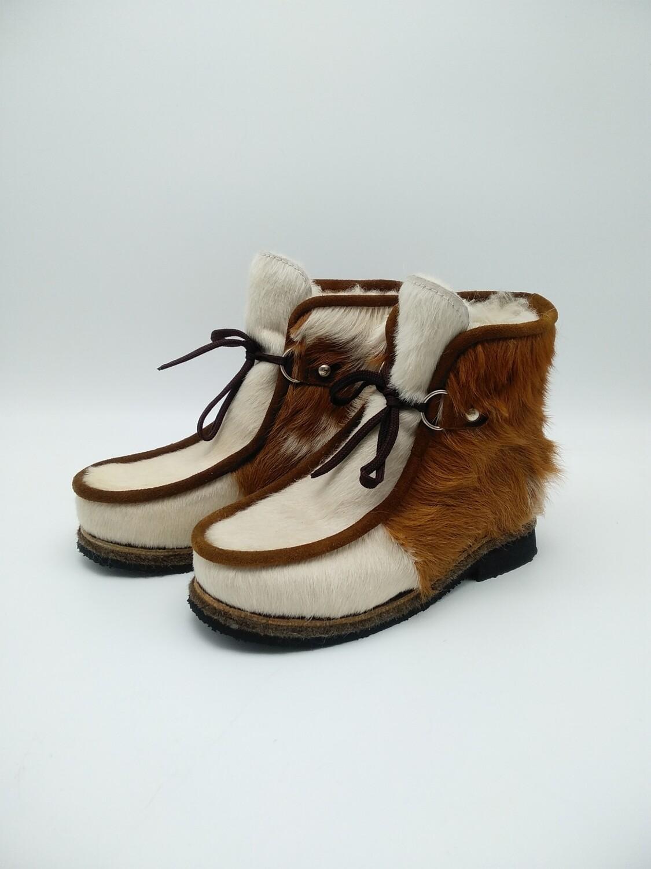 39 Унты-ботиночки женские из теленка