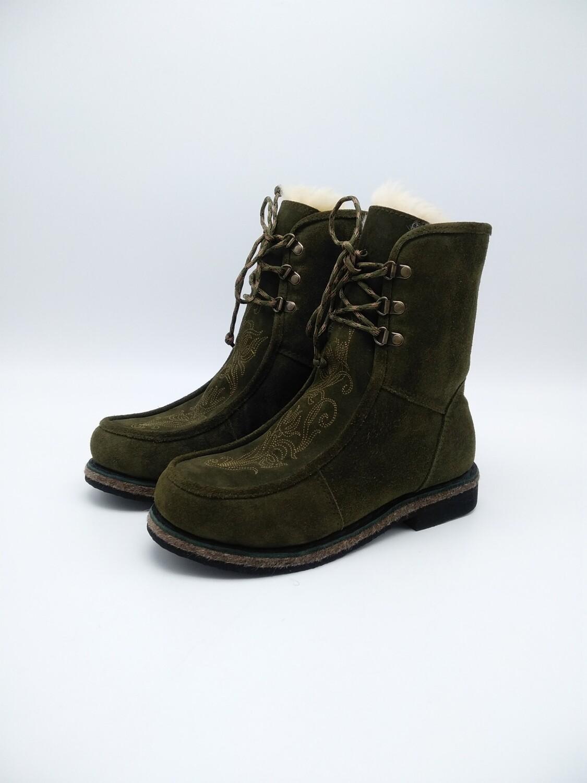 39 Унты- ботиночки женские из замши