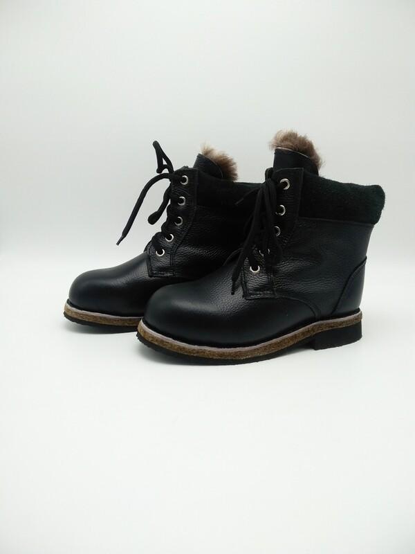 40 Унты-ботинки мужские из кожи