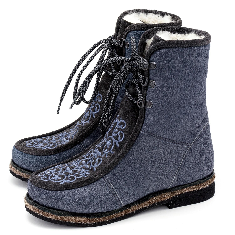 Унты-ботиночки женские из меха пони