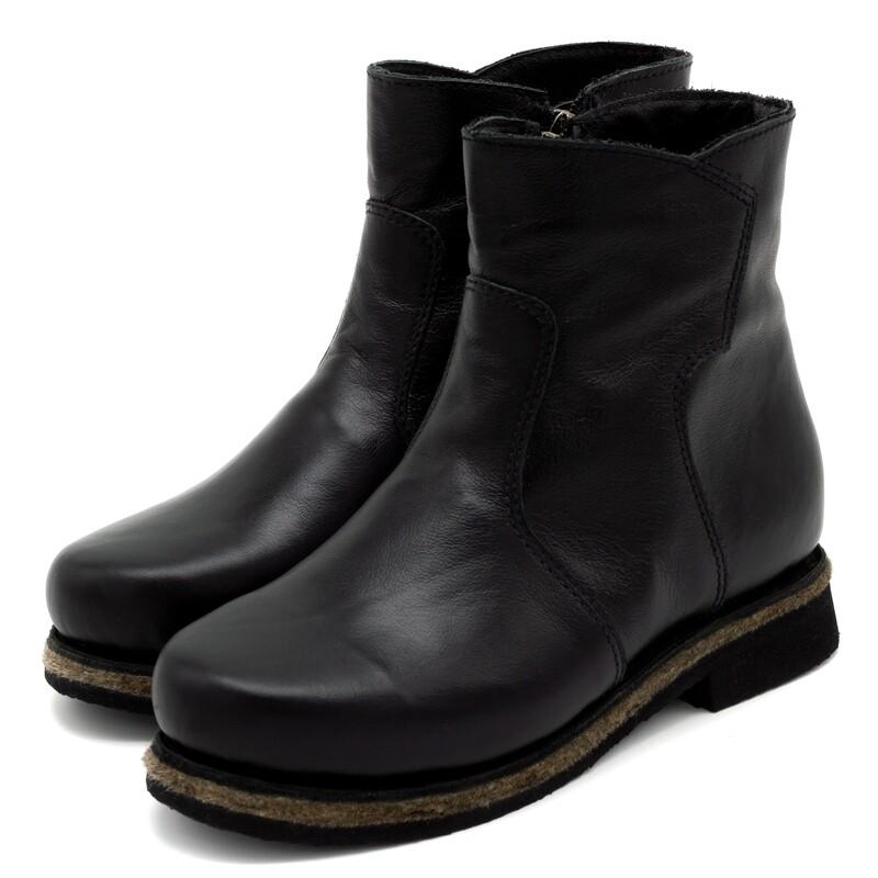 Унты-ботиночки женские из кожи теленка