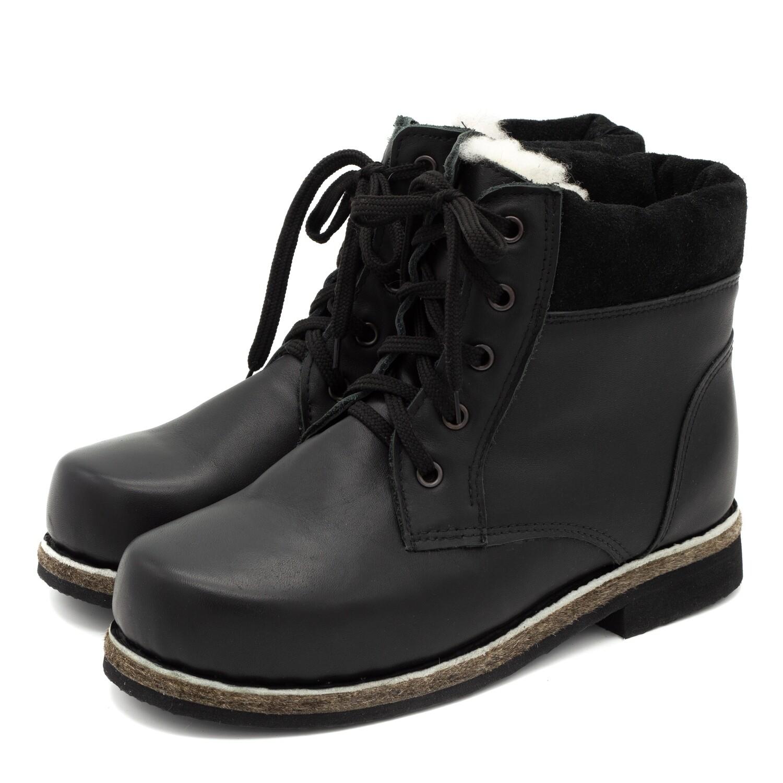 Унты-ботинки мужские из кожи теленка