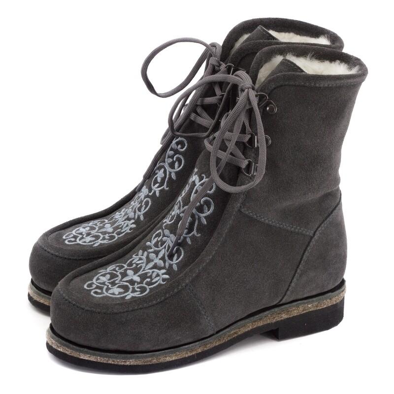 Унты-ботиночки женские из замши