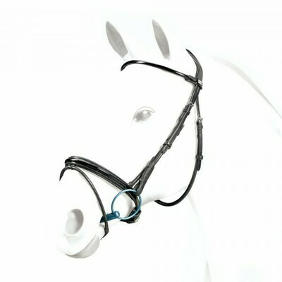 BR40 - Equipe Rolled Patent Leather Flash Bridle