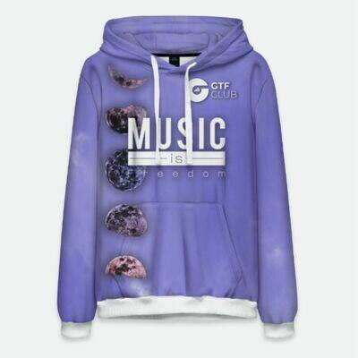 Худи Мужское The Fluid Collection (фиолетовое)
