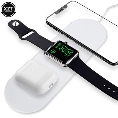 Chargeur sans fil pour 3 appareils iOS (compatible iPhone, Apple Watch et Airpods) - Cadeau parfait pour les fans d'Apple !