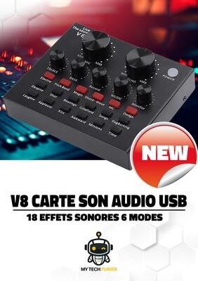 Carte Son V8 Externe en USB + Boite à effets