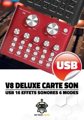 Carte son V8 Live + Boite à effets (18 type d'effets) - Idéal pour débuter !