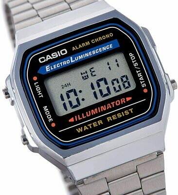 Casio Montre Collection A168WG-9 - Silver (Vintage !)