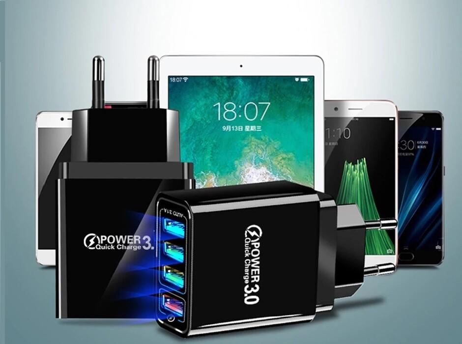 Chargeur Universel USB Quick Charge 3.0 (Jusqu'à 4X la vitesse normale de chargement)