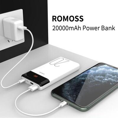 Powerbank - Batterie Externe ROMOSS LT20 - 20000mAh (compatibles iOS et Android)