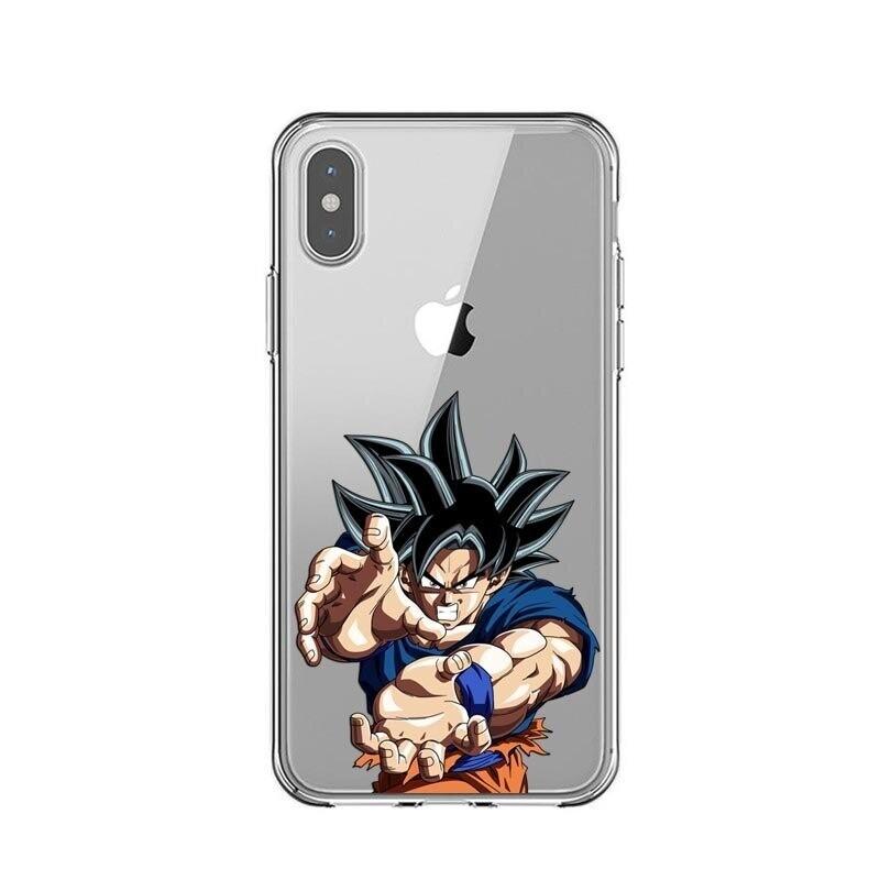 Coques de Protection Transparente pour iPhone inspirées du manga Dragon Ball Z