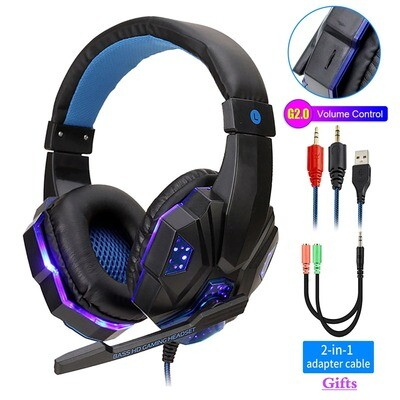 Casque de Gaming avec micro QearFun (compat. PC, PS4 , Switch, Xbox ou Mobile ...)