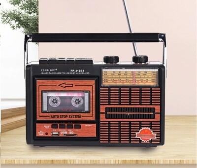 Radio Lecteur Cassette Audio Design Retro   Bluetooth, usb, mp3